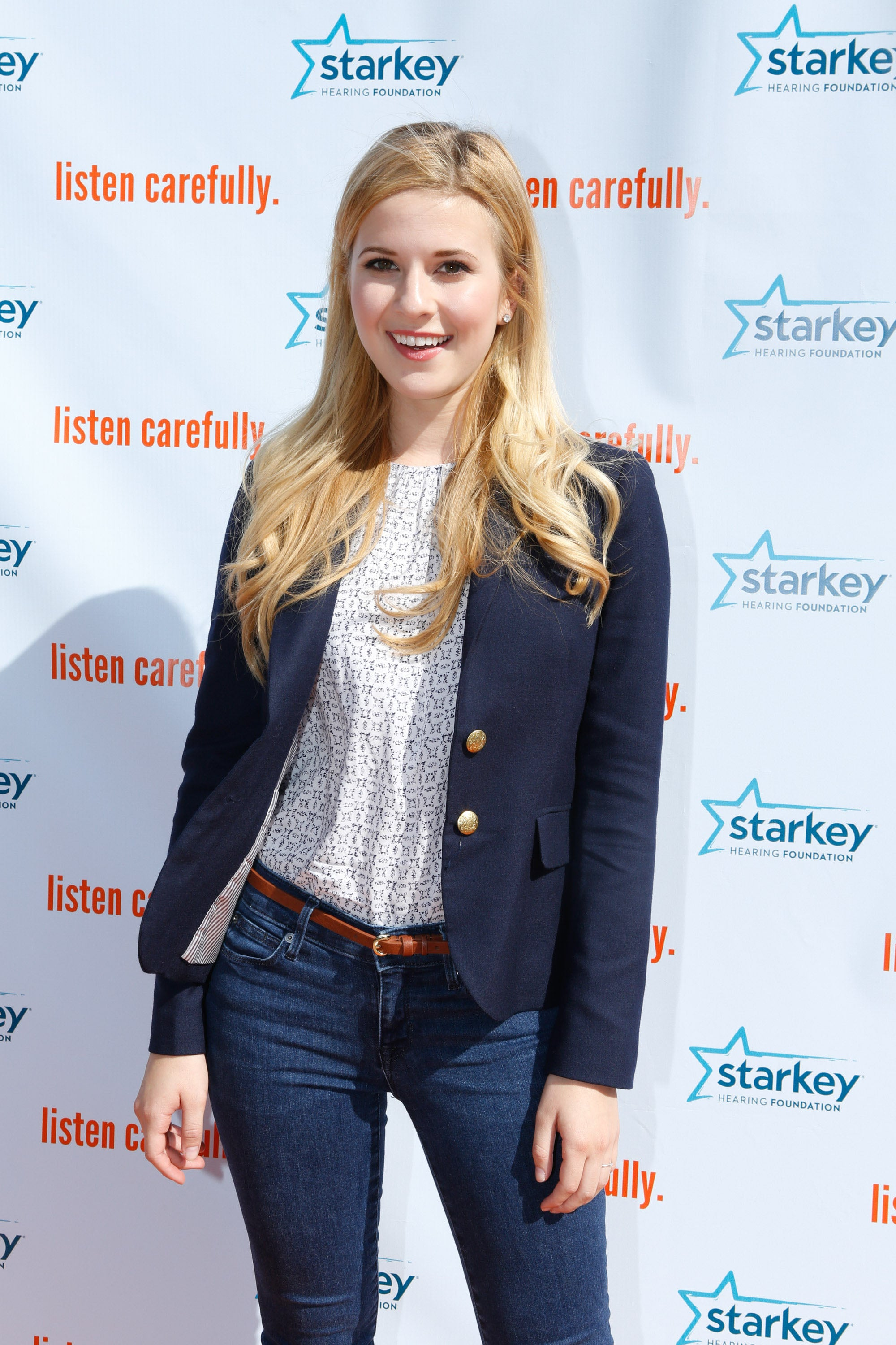 IRVINE, CA - APRIL 15:  Actor Caroline Sunshine attends the Starkey Hearing Foundation's Listen Carefully Concert With Aloe Blacc at Woodbridge High School on April 15, 2015 in Irvine, California.  (Photo by Tiffany Rose/Getty Images for Starkey Hearing Foundation)