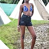 Leomie Anderson at Glastonbury 2016