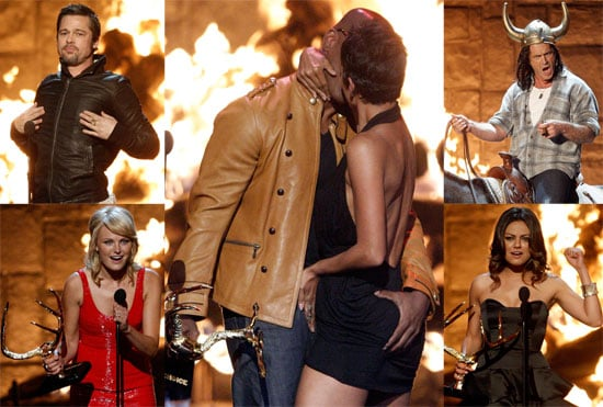 Photos of Brad Pitt, Halle Berry and Jamie Foxx Butt Grab, Mel Gibson at Spike TV Guys Choice Awards
