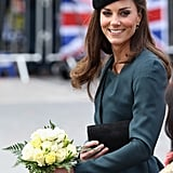 Kate Holding Her Flowers 2012