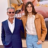 Pierce Brosnan and Dylan Brosnan at the Once Upon a Time in Hollywood LA premiere.