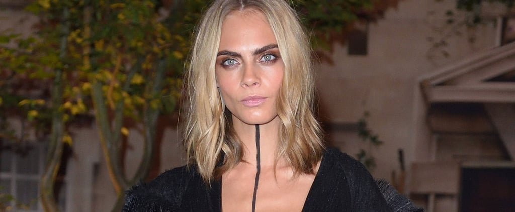Blink and You'll Miss Cara Delevingne's Edgy, Minimalist Body Paint