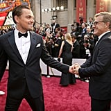 Leonardo DiCaprio and Christoph Waltz at the 2014 Oscars.