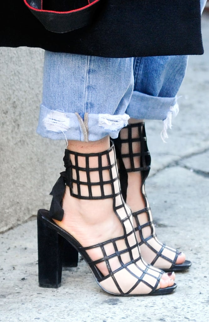Not exactly cold-weather gear, but we couldn't help but love these geometric cutout booties.