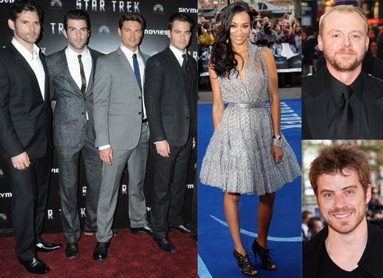 Photos Of London Premiere Of Star Trek Featuring Simon Pegg, Zachary Quinto, Chris Pine, Zoe Saldana, Eric Bana, Rob Kazinsky