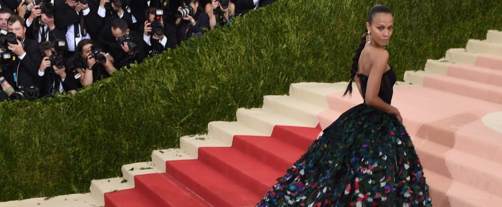 The Most Stunning Photos of Zoe Saldana's Beautiful Gown at the Met Gala