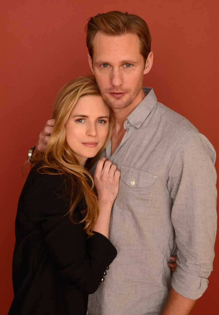 Alexander Skarsgard cozied up to Brit Marling for a portrait on Sunday.