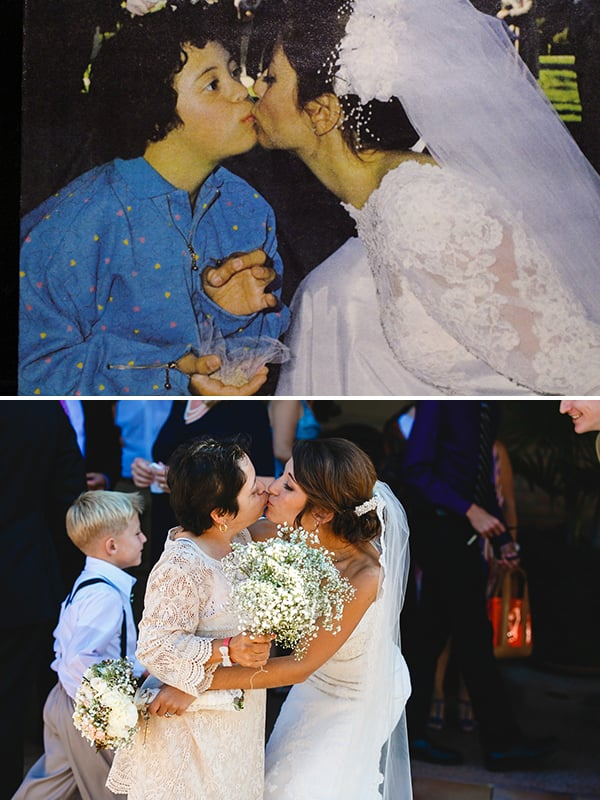 Then-and-Now Mother-Daughter Wedding Pictures