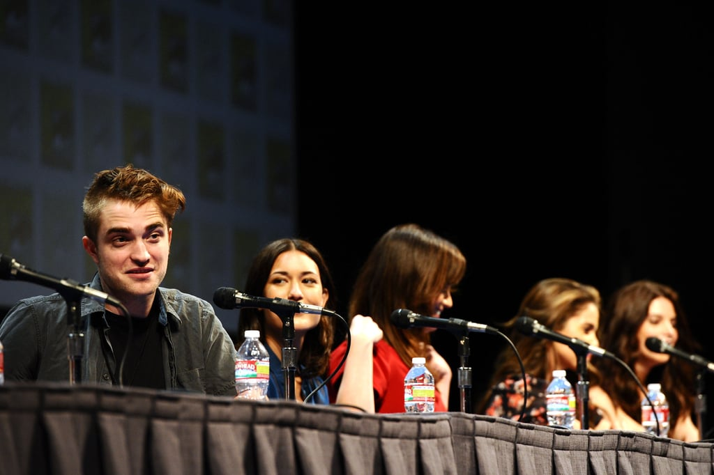 Robert Pattinson answered questions alongside his co-stars at the 2011 panel.
