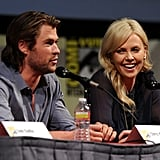 Chris Hemsworth and Charlize Theron answered questions about the film.