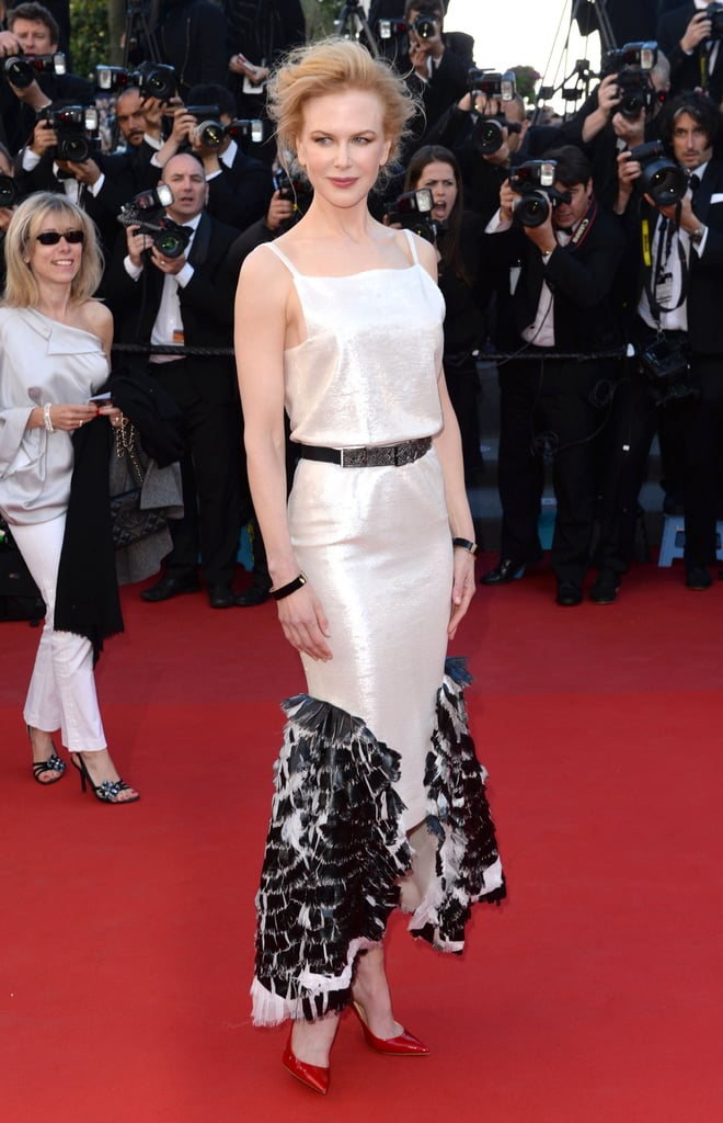 Things were in black and white for Nicole Kidman's Venus in Fur appearance. The actress opted for a black-and-white gown from Chanel's Cruise 2014 collection.