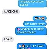 Harry Potter Story in Texts
