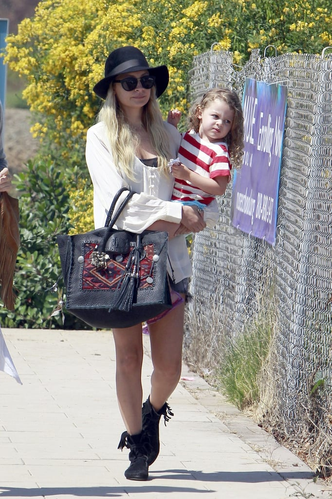 Nicole and Harlow spent the day in Malibu.