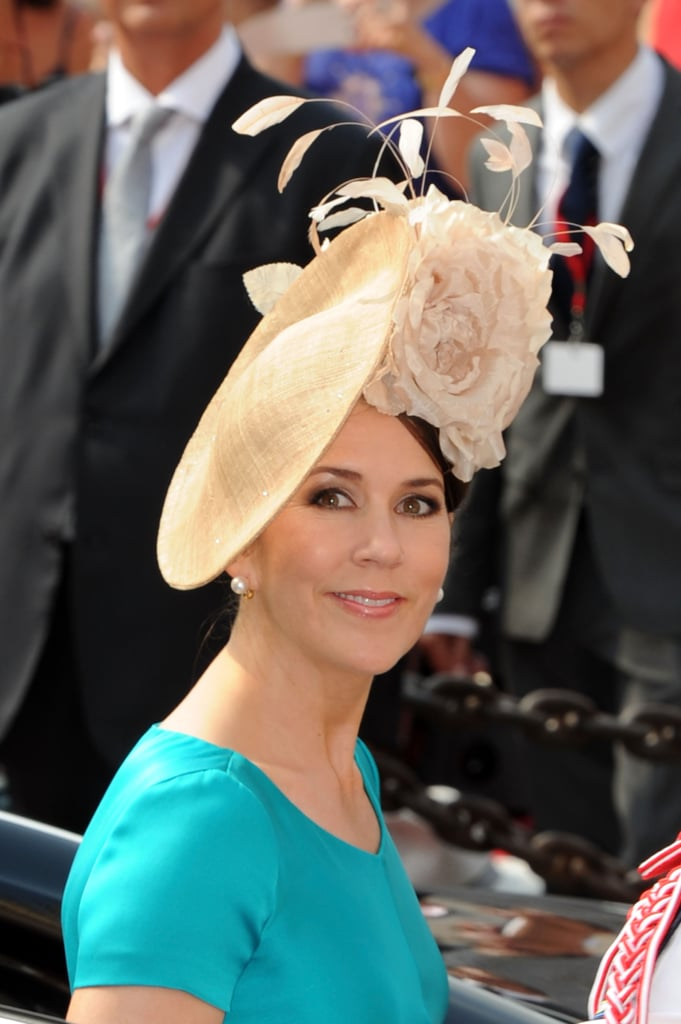 Crown Princess Mary of Denmark wore this beautiful creation to the wedding of Prince Albert of Monaco in 2011.