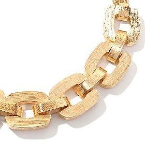 Tori Spelling Bold Brushed Link Necklace