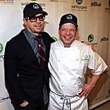 Brothers Donnie and Paul Wahlberg in Boston.