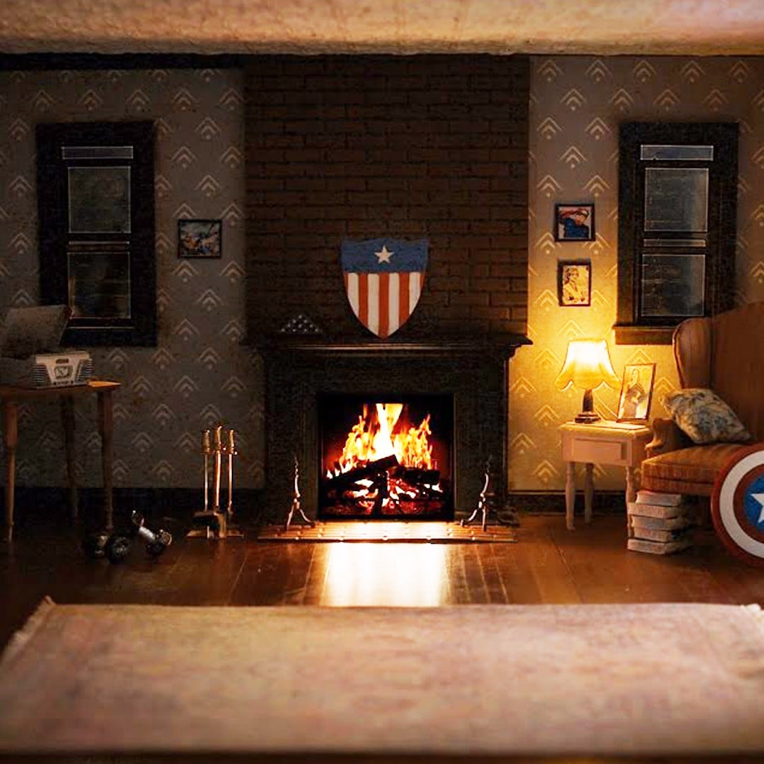 marvel heroes fireplace videos popsugar tech