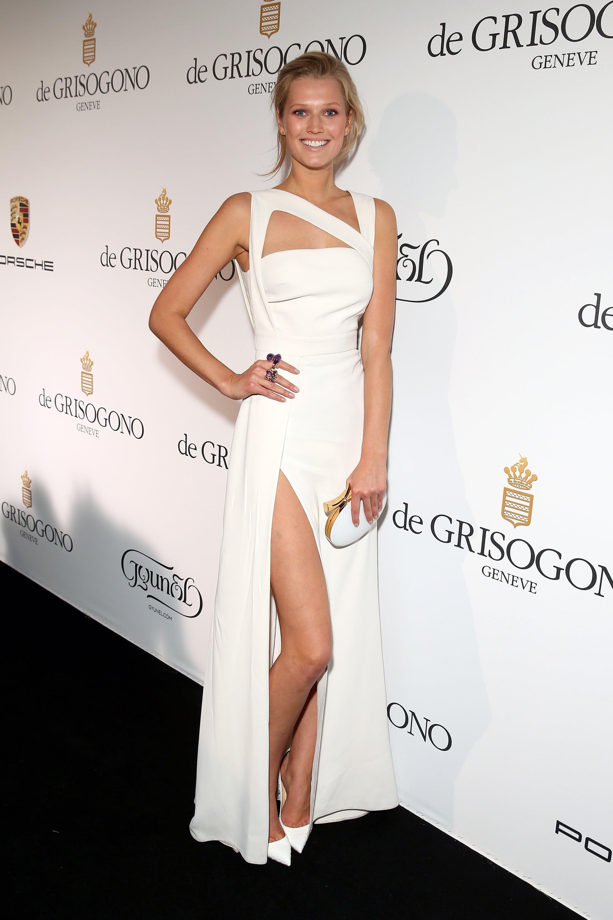 Toni rocked a white dress.
