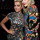 Bebe Rexha and Taylor Swift at the 2019 MTV VMAs