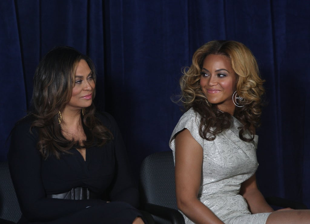 Tina looked on with pride as her daughter unveiled the opening of the Beyoncé Cosmetology Center on March 5, 2010, in New York City.