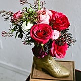 Golden Boot Vase