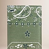 Burberry Paisley Floral Print Passport Cover  ($350)