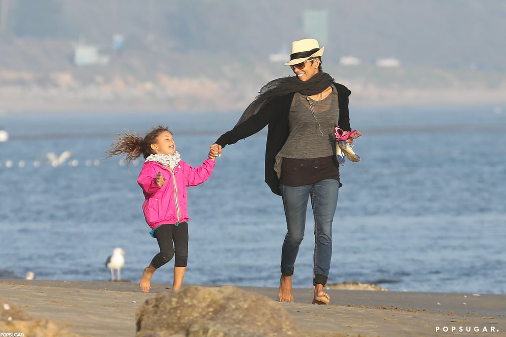 Halle Berry and Nahla at the Beach
