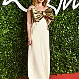 Lily James at the British Fashion Awards 2019