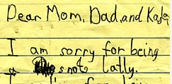 Found! A Letter To The Fam