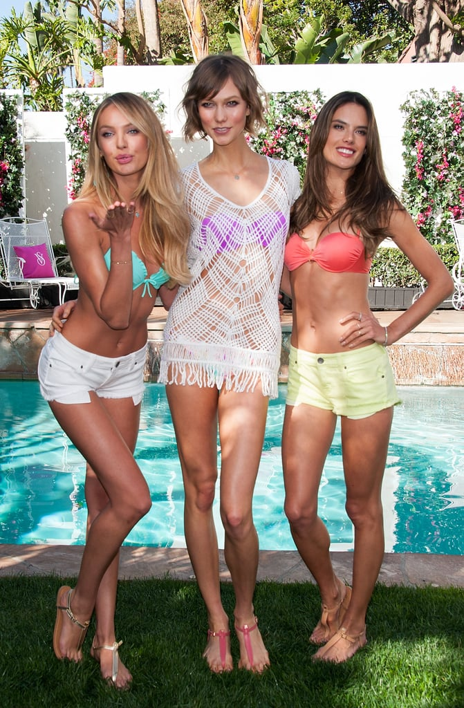 Candice Swanepoel, Karlie Kloss and Alessandra Ambrosio donned bikinis in LA.