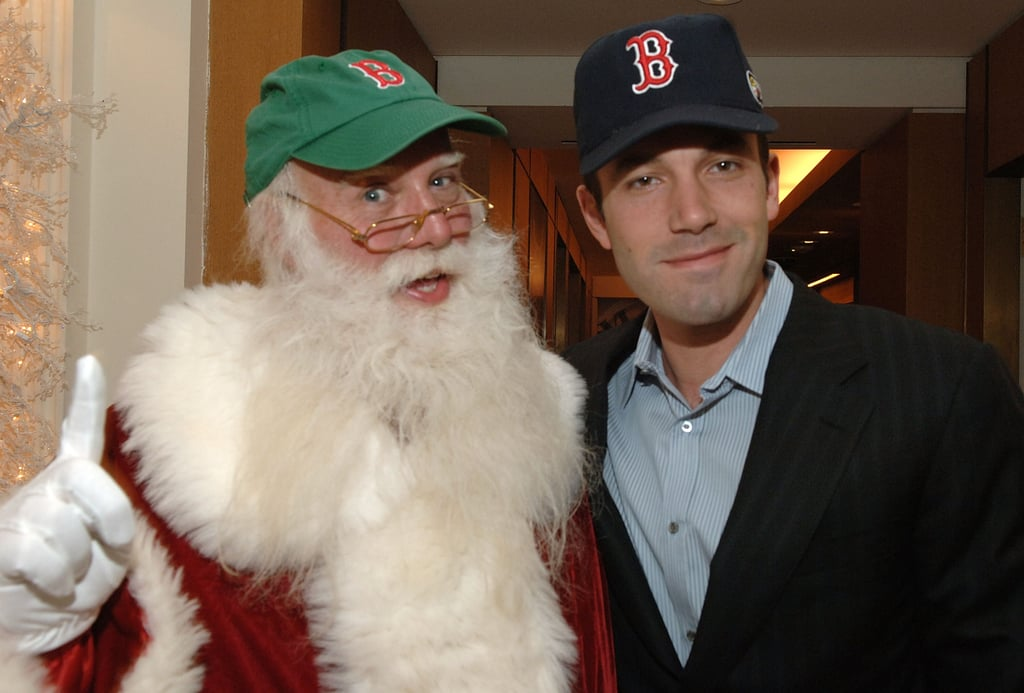 Even Santa wanted a photo with Ben Affleck at a November 2007 charity event in NYC.