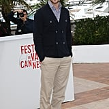 Justin was at his most preppy in khakis and nautical-inspired coat at a Cannes press event for Inside Llewyn Davis.