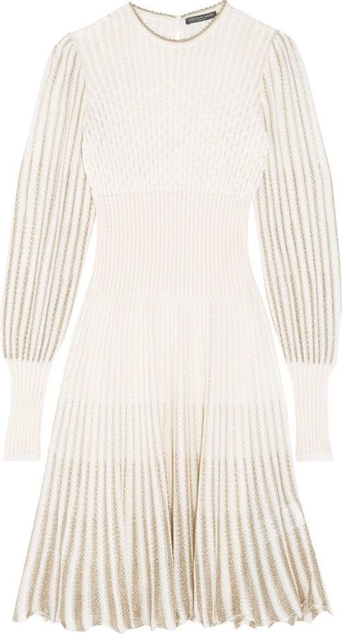 c378f86e8e6 Alexander McQueen Metallic Crochet-Knit Dress ( 1