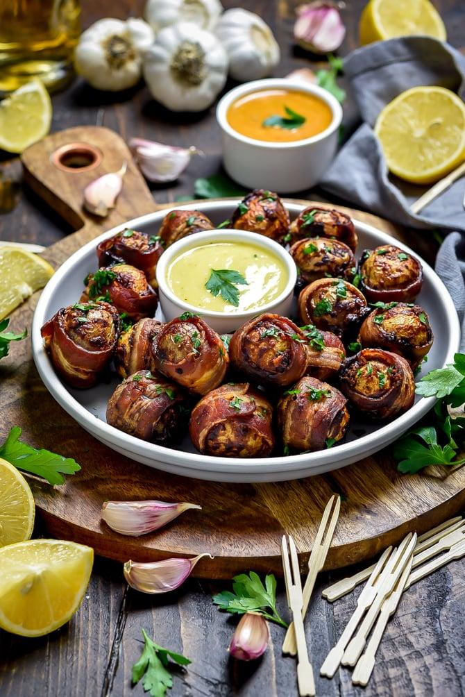 Smoky Bacon-Wrapped Baby Potatoes