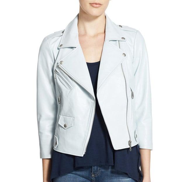 Rebecca Minkoff 'Wes' Crop Leather Moto Jacket ($498)