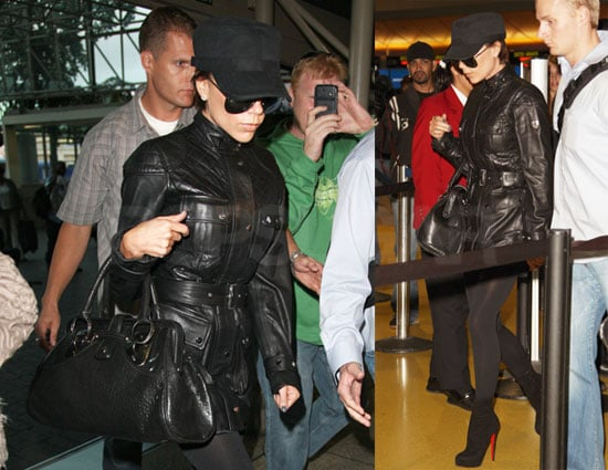 Photos of Victoria Beckham Not Wearing Pants at LAX