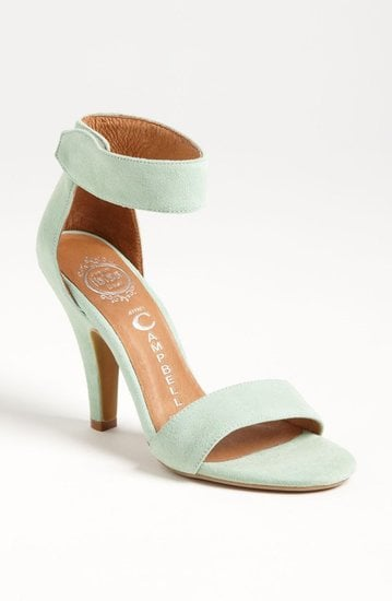 The dreamy pastel color on these Jeffrey Campbell Foxtrot sandals ($110) would look perfect with your little white dress.
