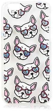 غطاء حماية لهاتف آيفون 6 مزيّن بطبعات كلاب البولدوغ الفرنسيّة (بسعر 28$ دولار أمريكي؛ 103 درهم إماراتيّ/ريال سعوديّ)