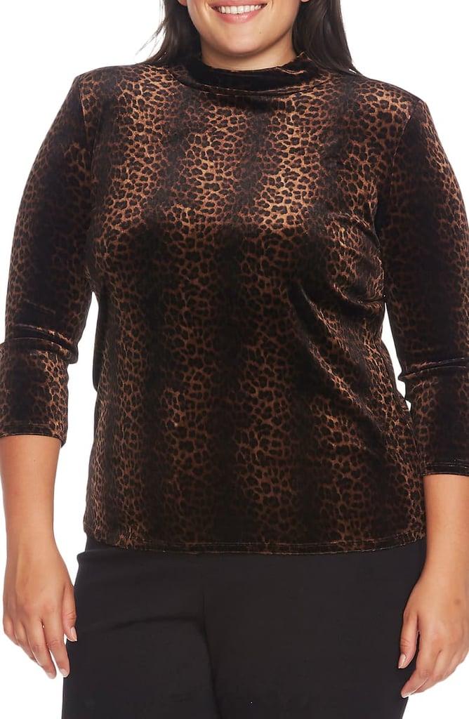 Vince Camuto Moonlit Leopard Print Top