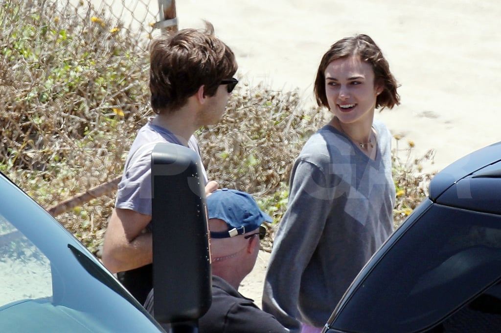 Keira Knightley's New Guy, James Righton, Pays Her an on Set Visit