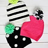 DIY Pom Pom Sweater Hat