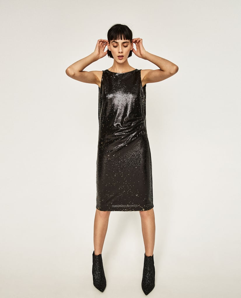 Zara Tube Dress With Sequins ($70)