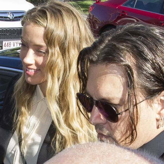 Pictures of Amber Heard and Johnny Depp in Queensland Court