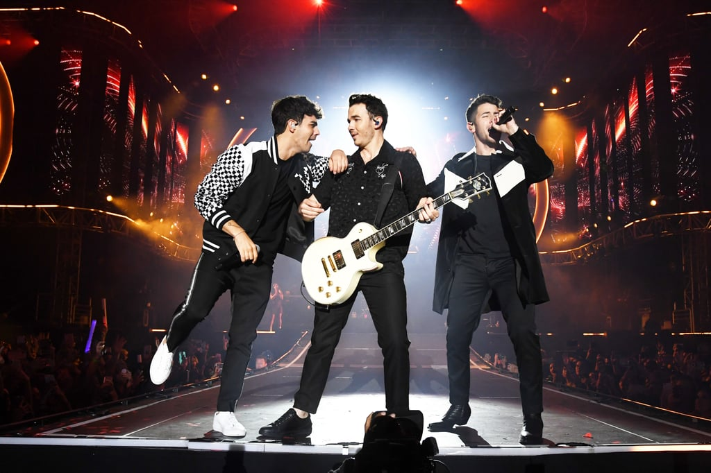 The Jonas Brothers are taking the world by storm this year! Since announcing their reunion in February, the brothers have been everywhere — they've dropped new music, they released a documentary, and they're currently on tour. On top of all their career success, it seems like Kevin, Joe, and Nick are closer than ever as well.  While their 2013 breakup took everyone by surprise, they've clearly worked through their issues and come back even stronger. Whether they're performing their biggest hits on stage together or they're hitting the red carpet with their wives, it's clear they found happiness together this year. See their best pictures from 2019 ahead!       Related:                                                                                                           New Music, a Documentary, and a Memoir: All the Details About the Jonas Brothers Reunion