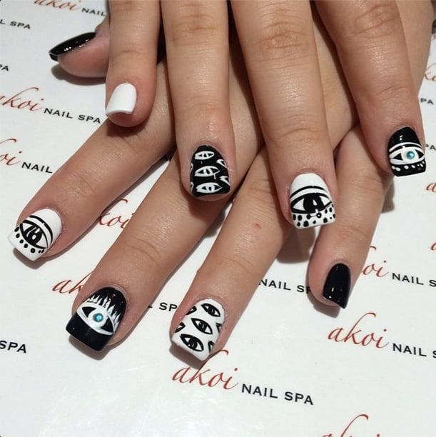 Share This Link - Evil Eye Nail Art Ideas POPSUGAR Beauty