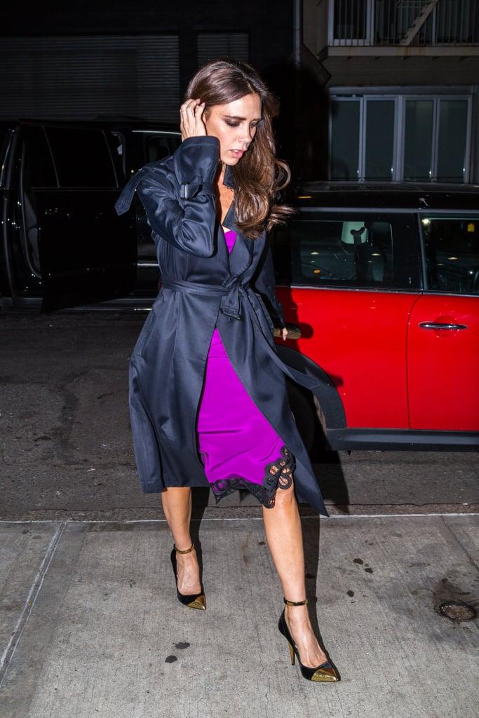 Wearing a Purple Silk Slip Dress