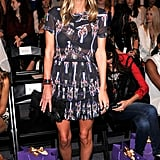 Nicky Hilton wore a printed Isabel Marant dress to Noon by Noor's show.