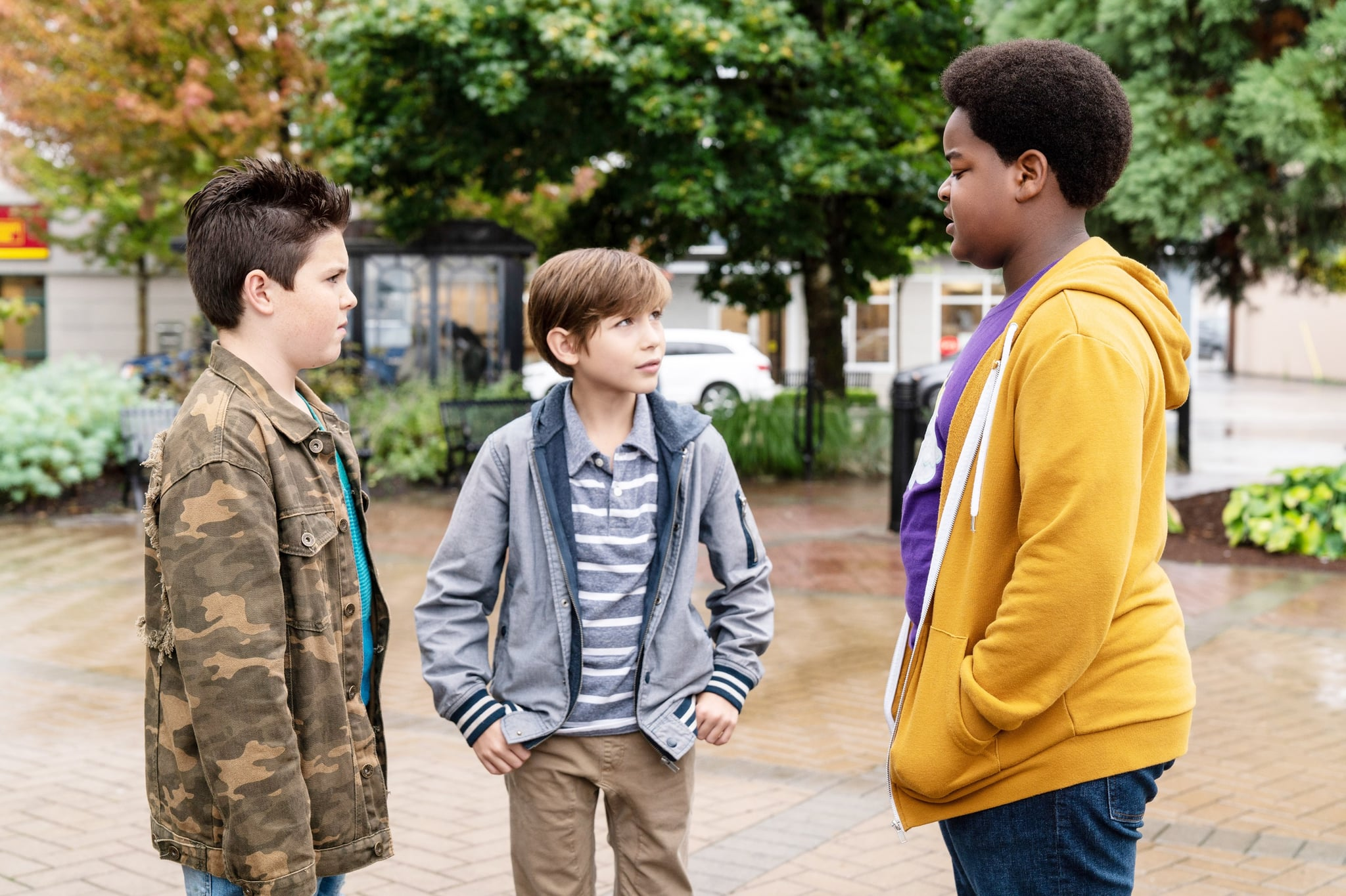 GOOD BOYS, from left: Brady Noon, Jacob Tremblay, Keith L. Williams, 2019. ph: Ed Araquel /  Universal / Courtesy Everett Collection
