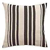 Farmhouse Basic Striped Black Pillow