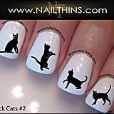 Black Cat Nail Decal Set ($4)